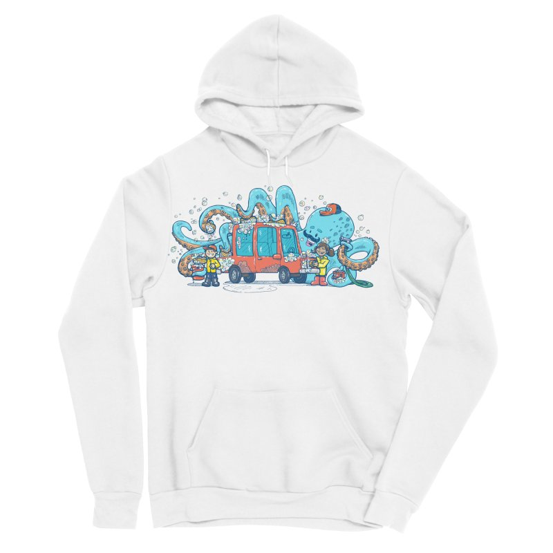 Octopus Carwash Women's Sponge Fleece Pullover Hoody by nickv47