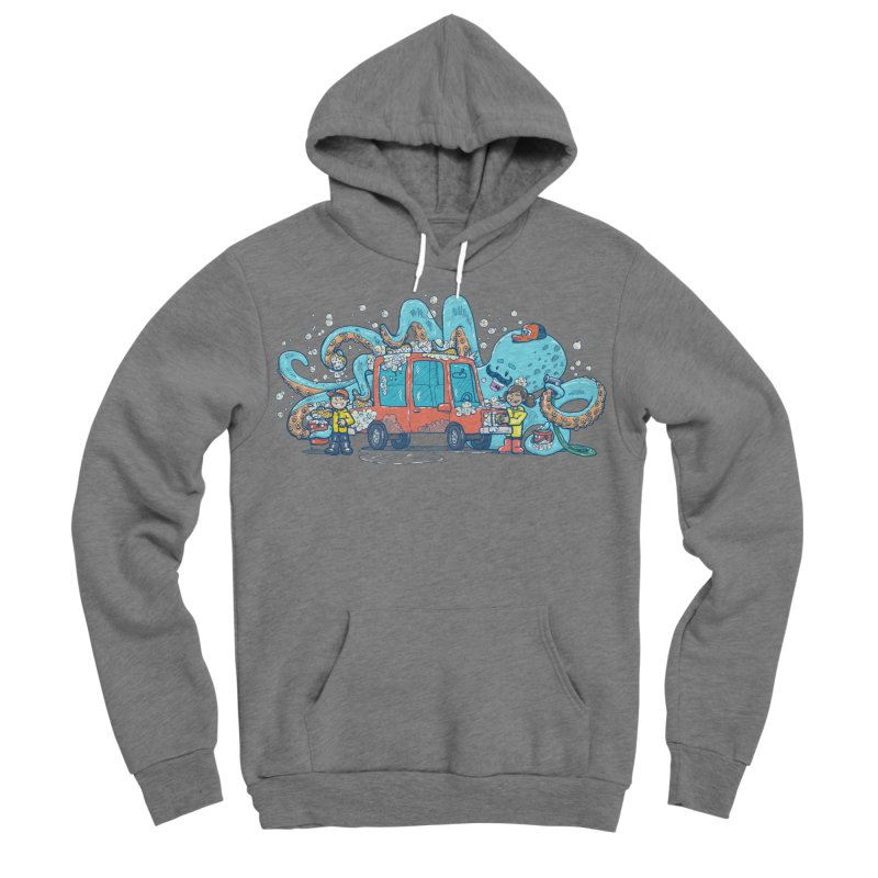 Octopus Carwash Men's Sponge Fleece Pullover Hoody by nickv47