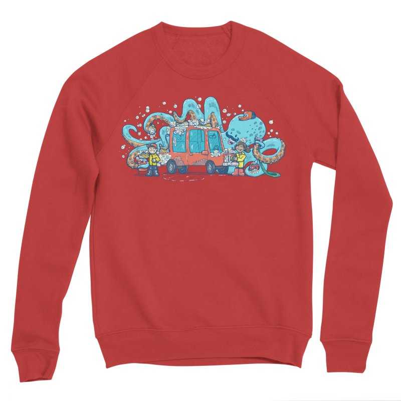 Octopus Carwash Women's Sponge Fleece Sweatshirt by nickv47