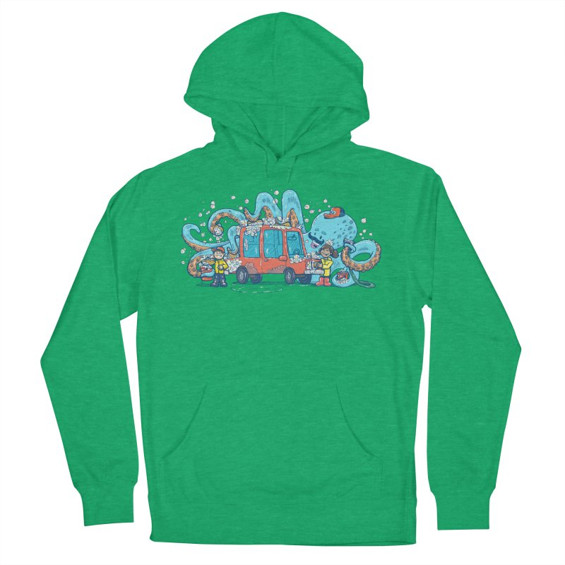 Octopus Carwash Men's French Terry Pullover Hoody by nickv47