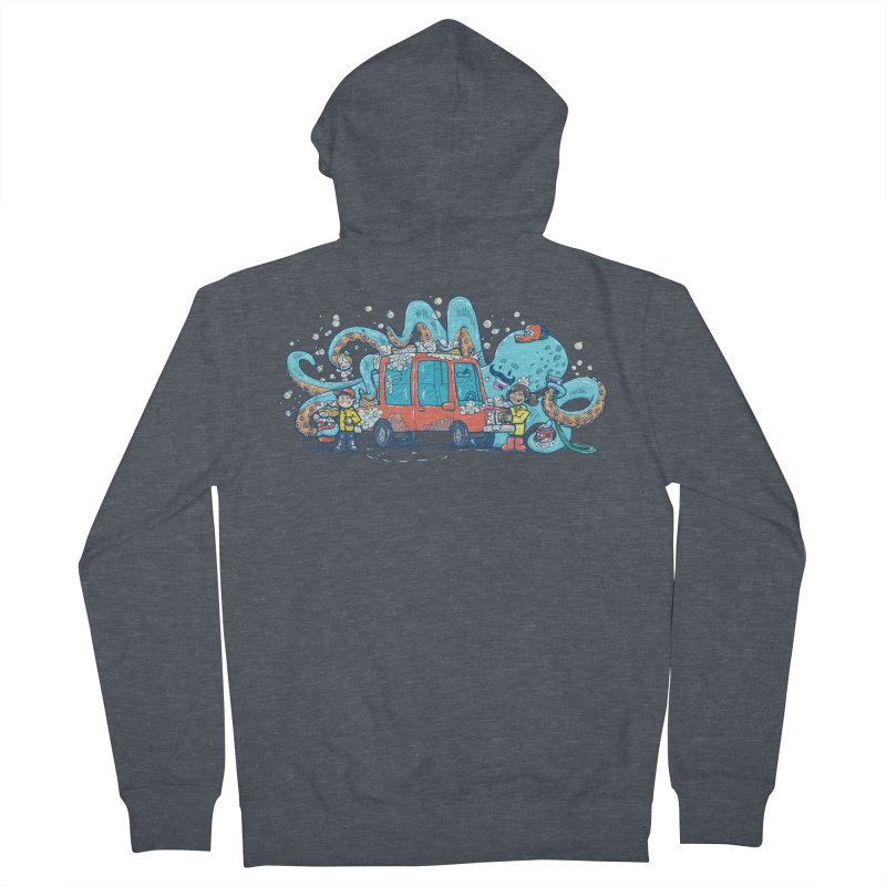 Octopus Carwash Men's French Terry Zip-Up Hoody by nickv47