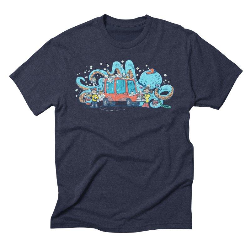 Octopus Carwash Men's Triblend T-Shirt by nickv47