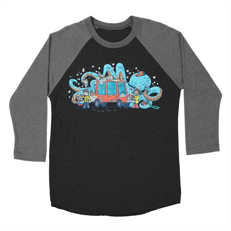 Octopus Carwash Men's Baseball Triblend Longsleeve T-Shirt by nickv47