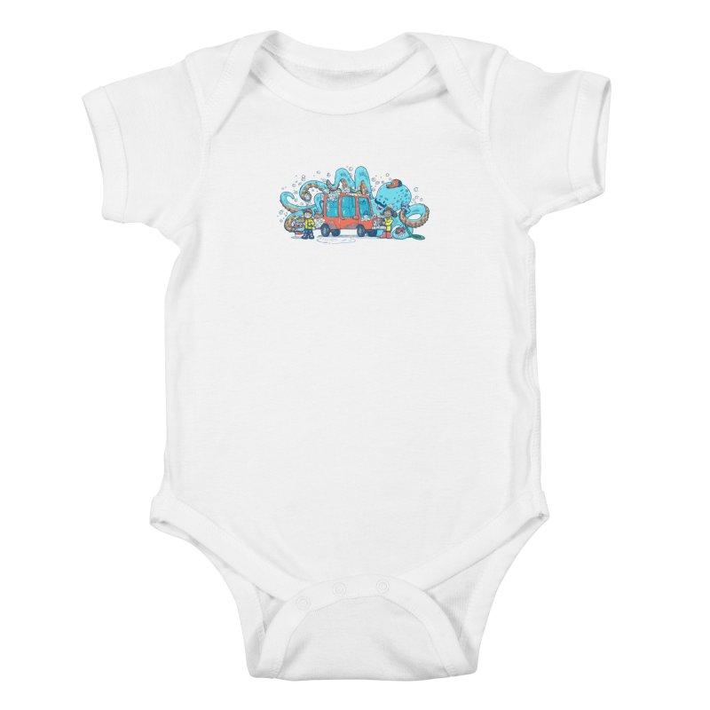 Octopus Carwash Kids Baby Bodysuit by nickv47