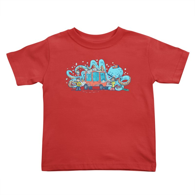 Octopus Carwash Kids Toddler T-Shirt by nickv47