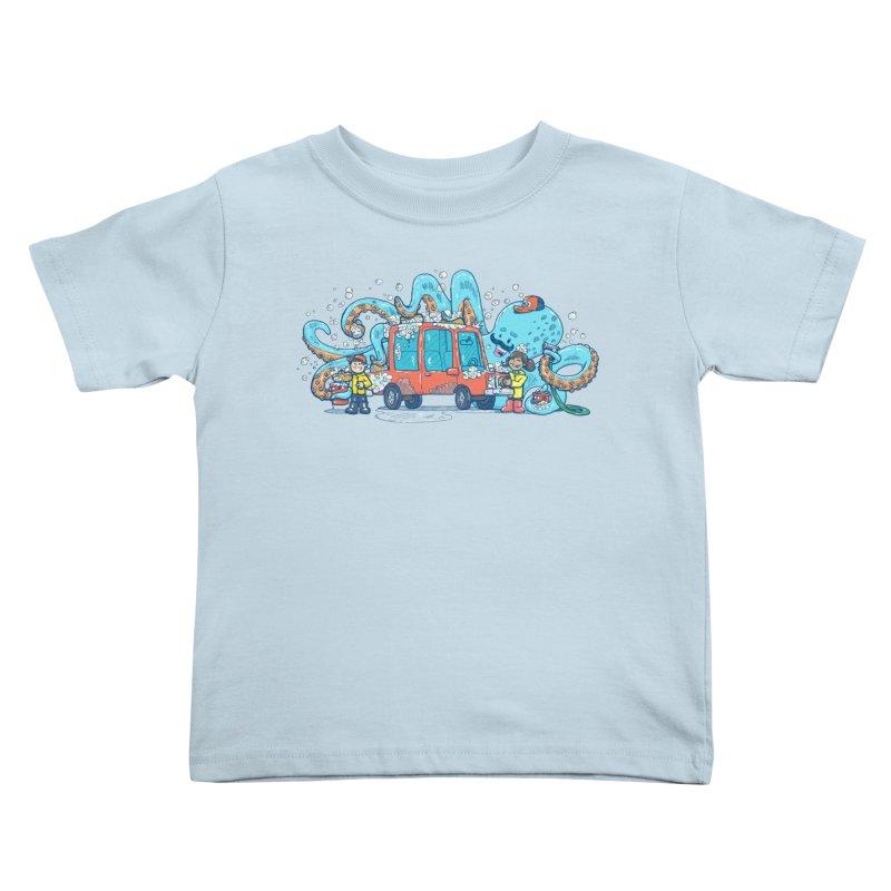 Octopus Carwash Kids Toddler T-Shirt by nickv47