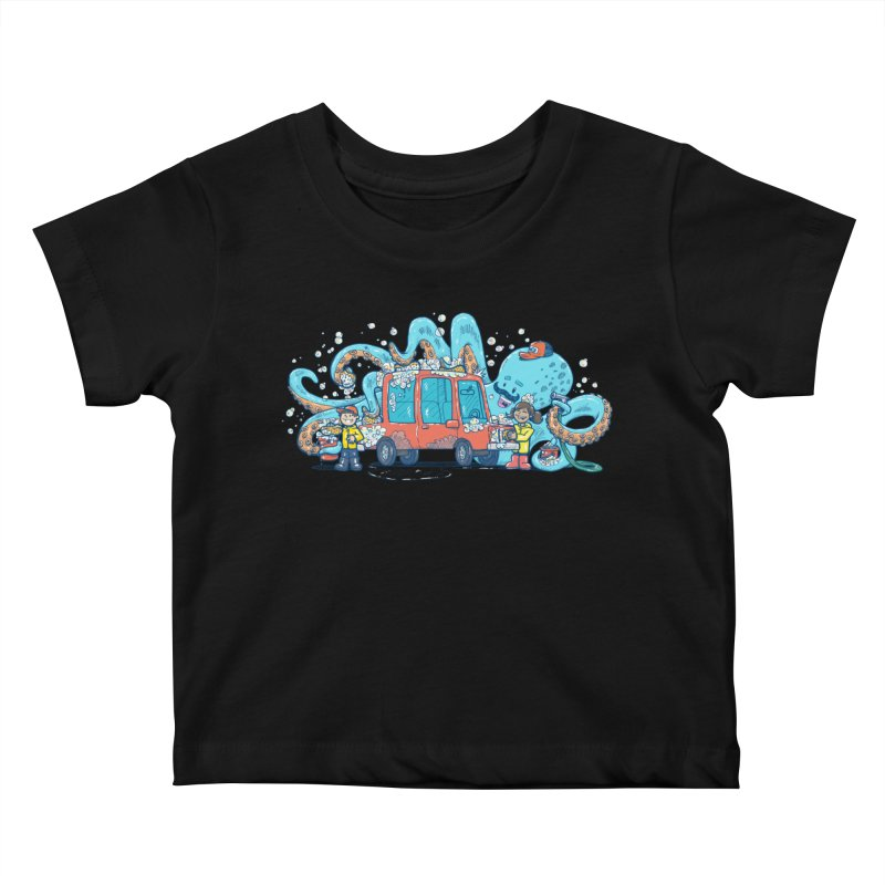 Octopus Carwash Kids Baby T-Shirt by nickv47
