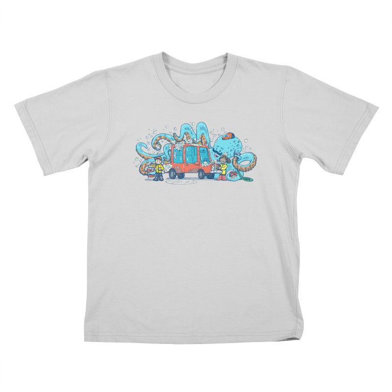 Octopus Carwash Kids T-Shirt by nickv47