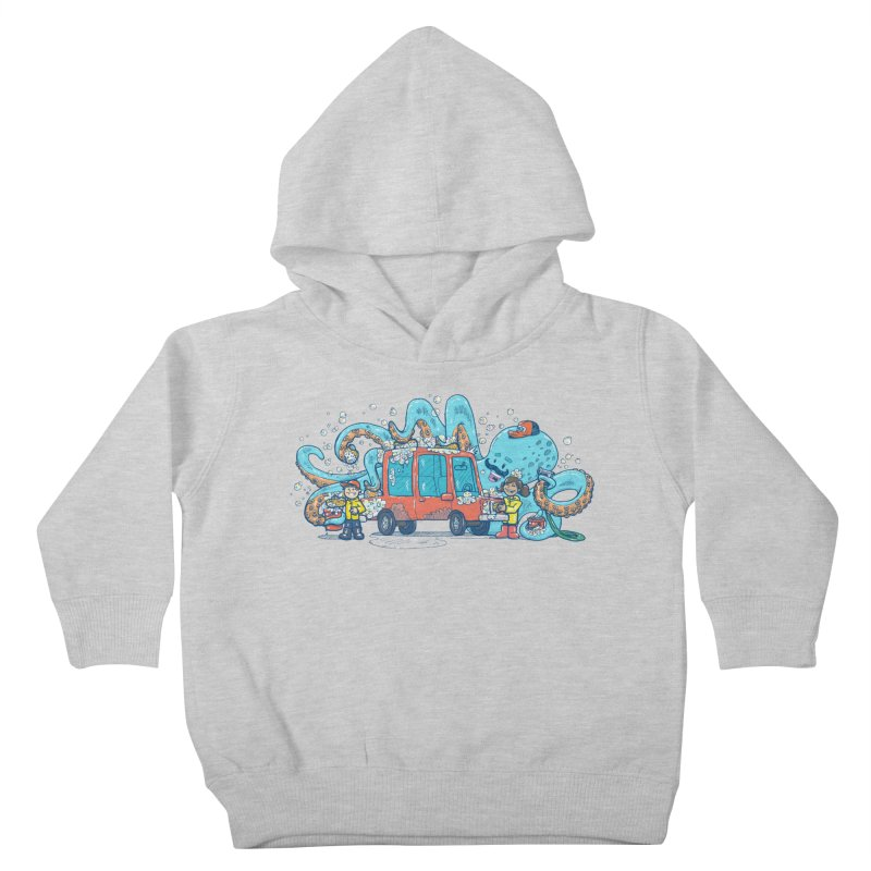 Octopus Carwash Kids Toddler Pullover Hoody by nickv47