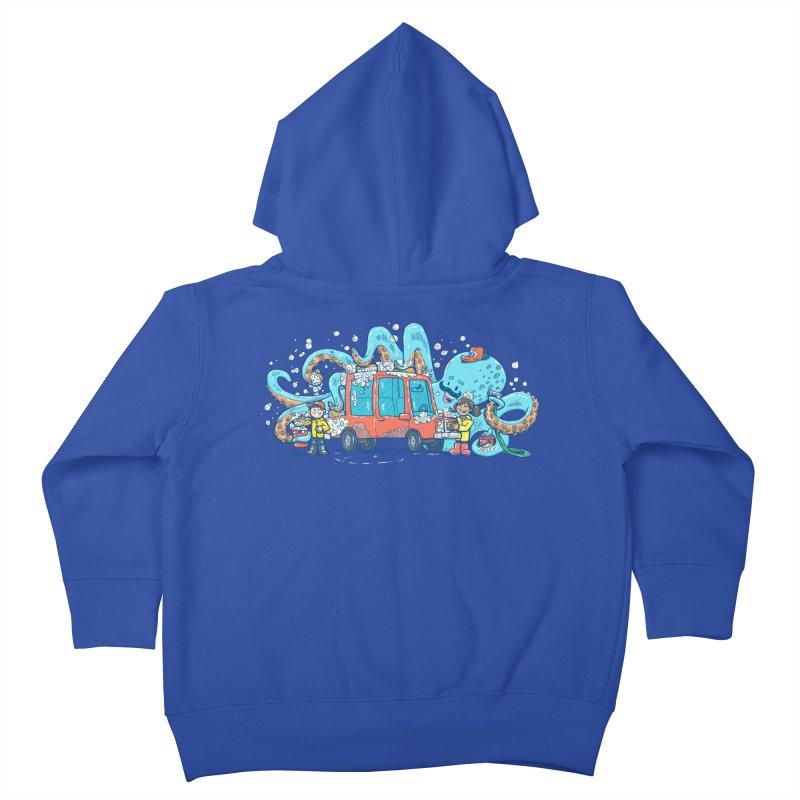 Octopus Carwash Kids Toddler Zip-Up Hoody by nickv47