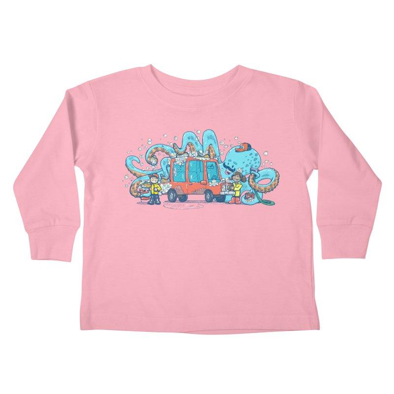 Octopus Carwash Kids Toddler Longsleeve T-Shirt by nickv47