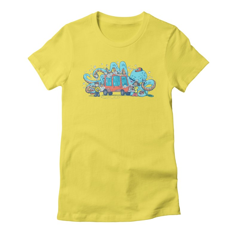 Octopus Carwash Women's Fitted T-Shirt by nickv47