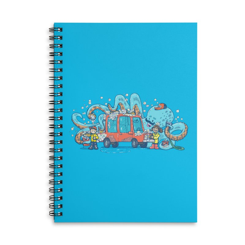 Octopus Carwash Accessories Lined Spiral Notebook by nickv47