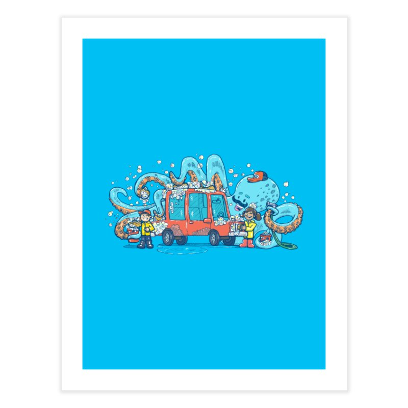 Octopus Carwash Home Fine Art Print by nickv47