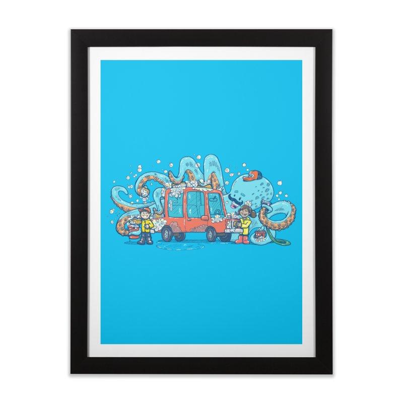 Octopus Carwash Home Framed Fine Art Print by nickv47