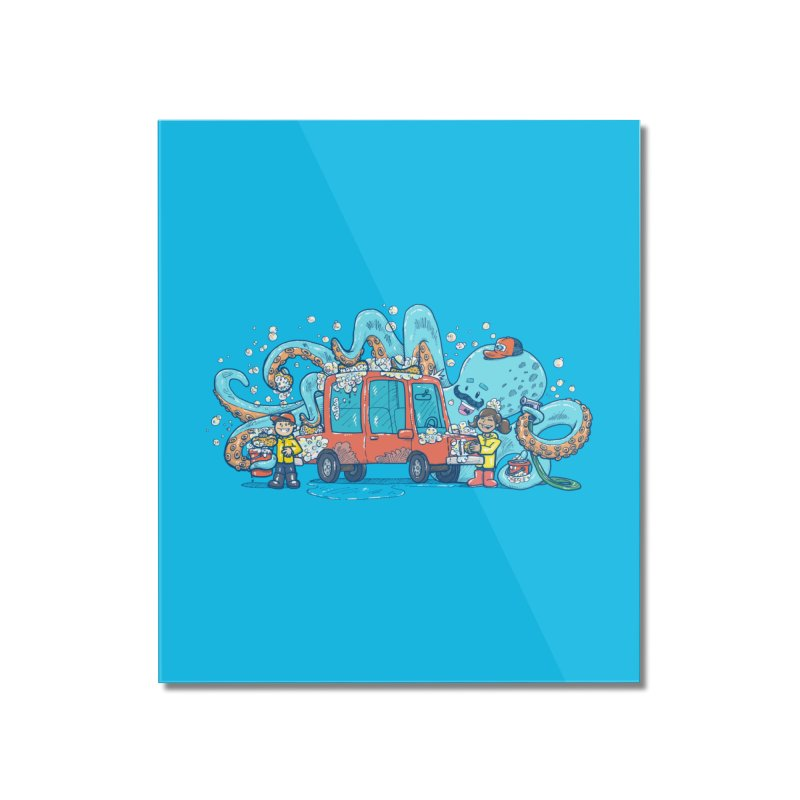 Octopus Carwash Home Mounted Acrylic Print by nickv47