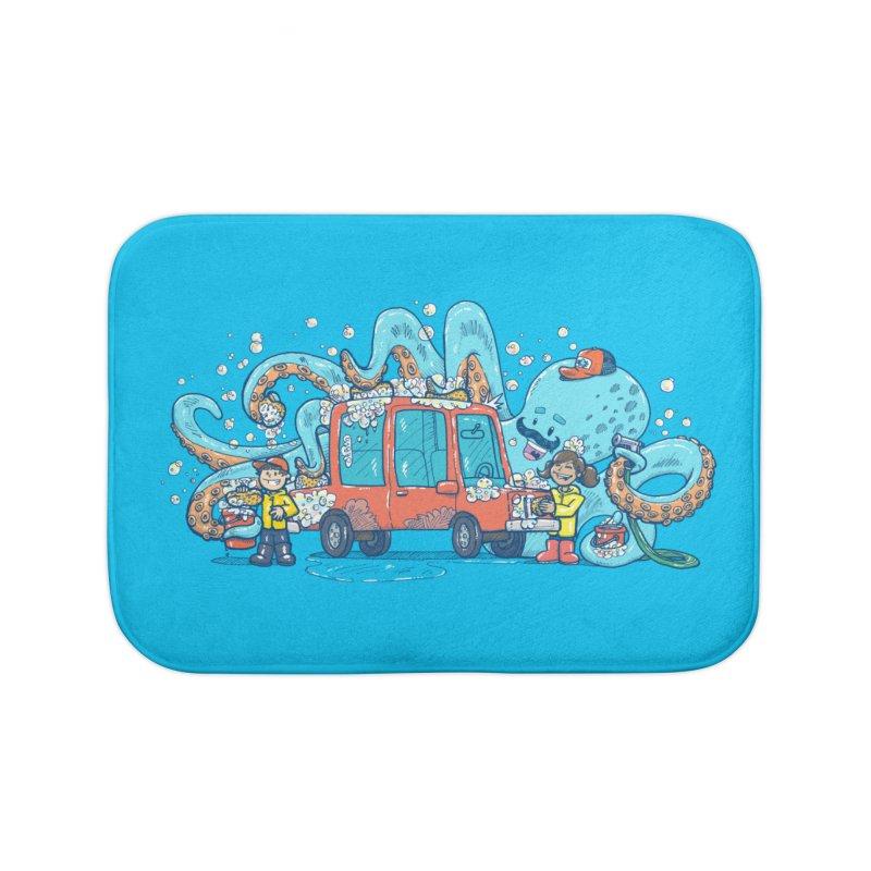 Octopus Carwash Home Bath Mat by nickv47