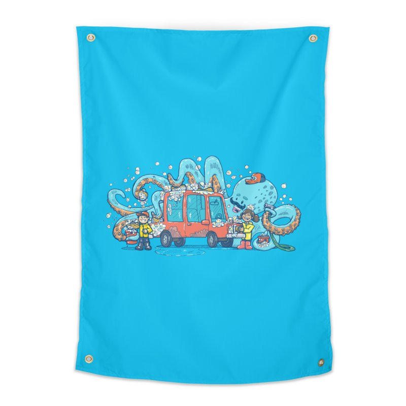 Octopus Carwash Home Tapestry by nickv47