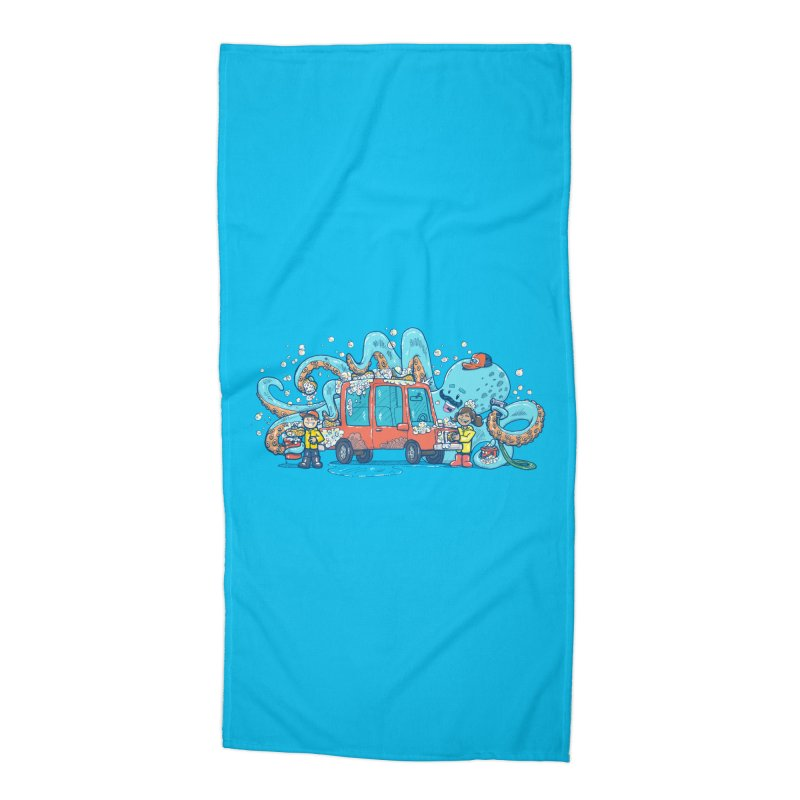Octopus Carwash Accessories Beach Towel by nickv47