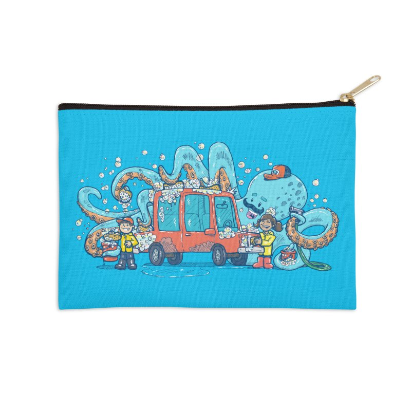 Octopus Carwash Accessories Zip Pouch by nickv47