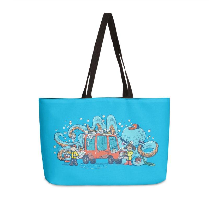 Octopus Carwash Accessories Weekender Bag Bag by nickv47