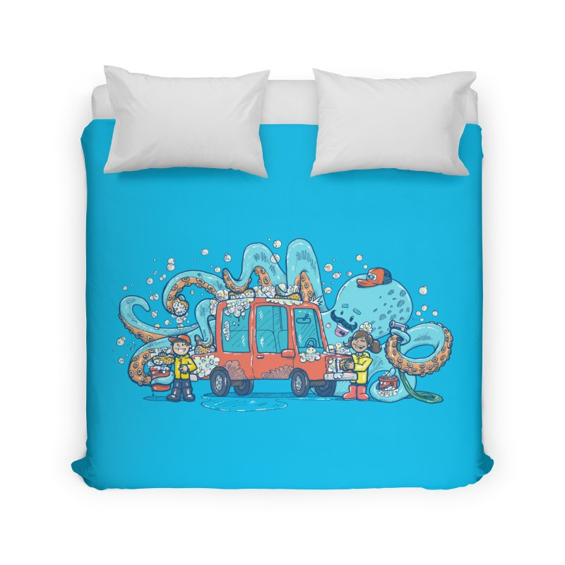 Octopus Carwash Home Duvet by nickv47