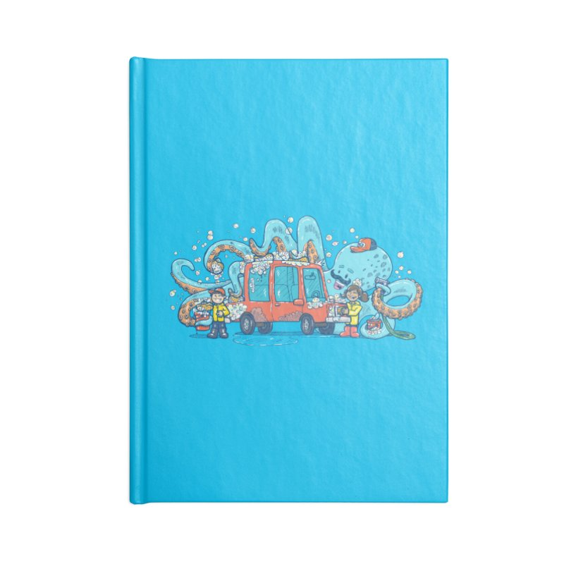 Octopus Carwash Accessories Lined Journal Notebook by nickv47