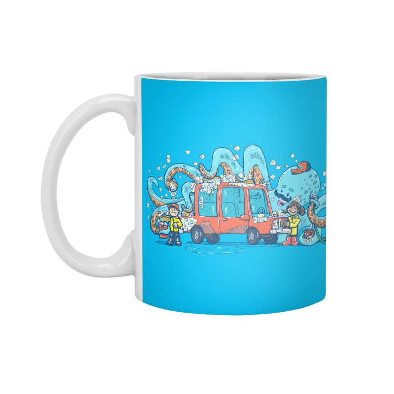 Octopus Carwash Accessories Standard Mug by nickv47