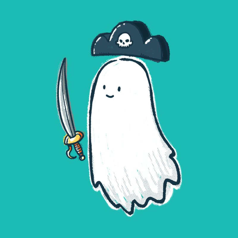 Pirate Ghost Kids T-Shirt by nickv47