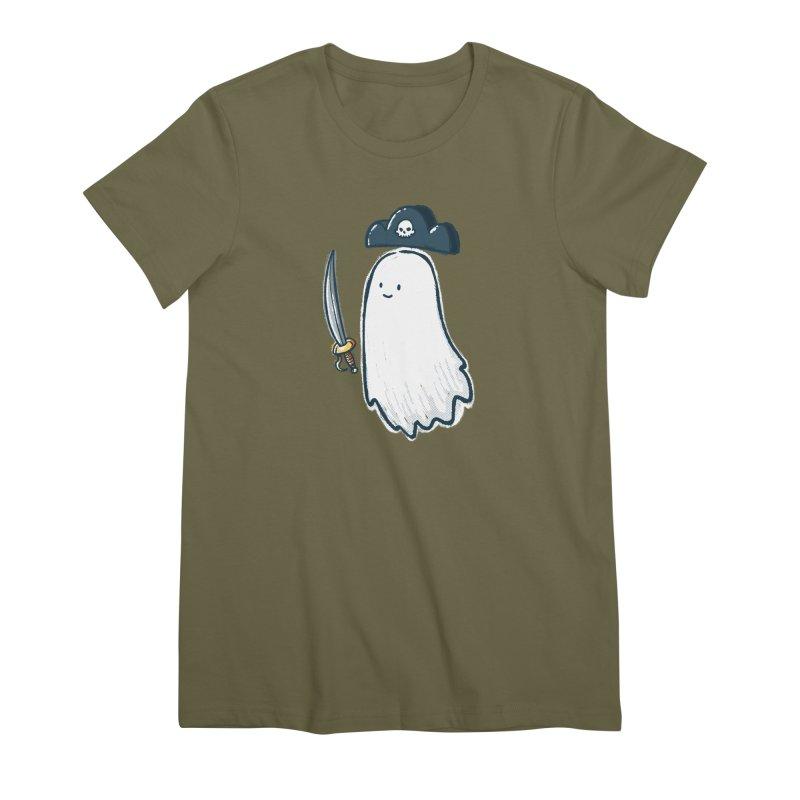 Pirate Ghost Women's Premium T-Shirt by nickv47