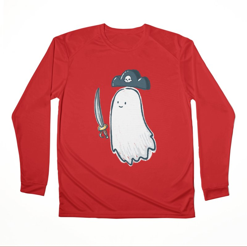 Pirate Ghost Men's Performance Longsleeve T-Shirt by nickv47