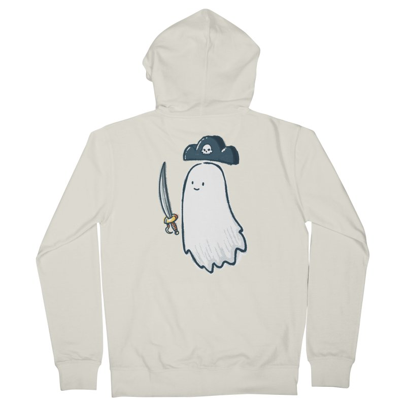 Pirate Ghost Men's French Terry Zip-Up Hoody by nickv47