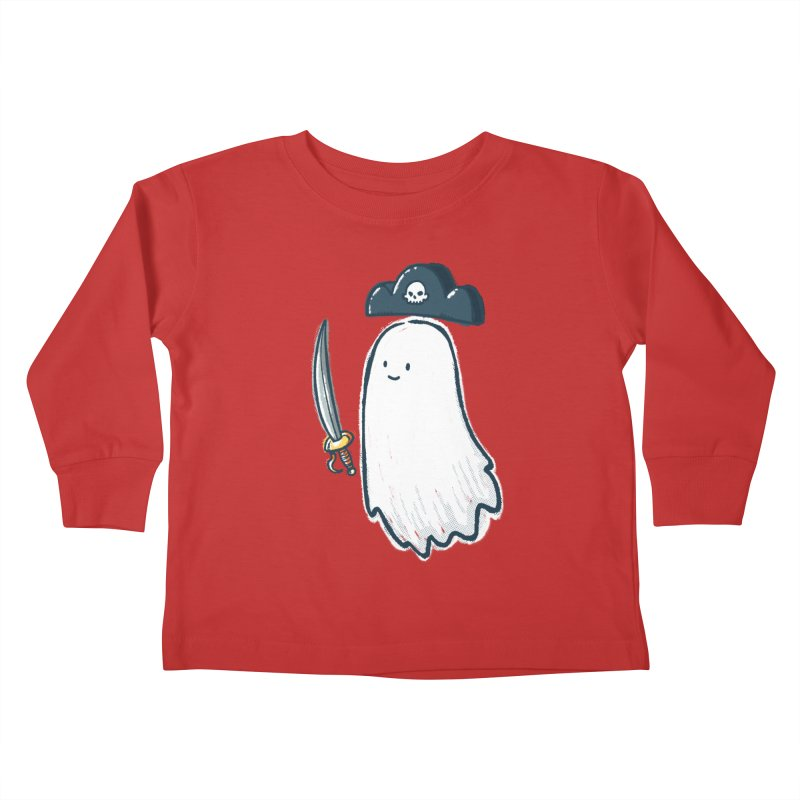 Pirate Ghost Kids Toddler Longsleeve T-Shirt by nickv47