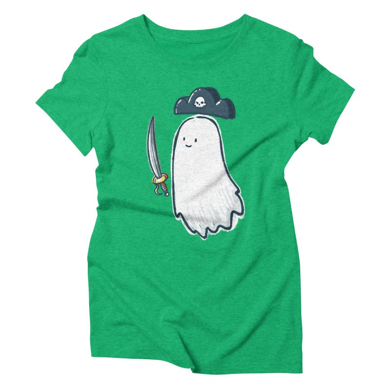 Pirate Ghost Women's Triblend T-Shirt by nickv47