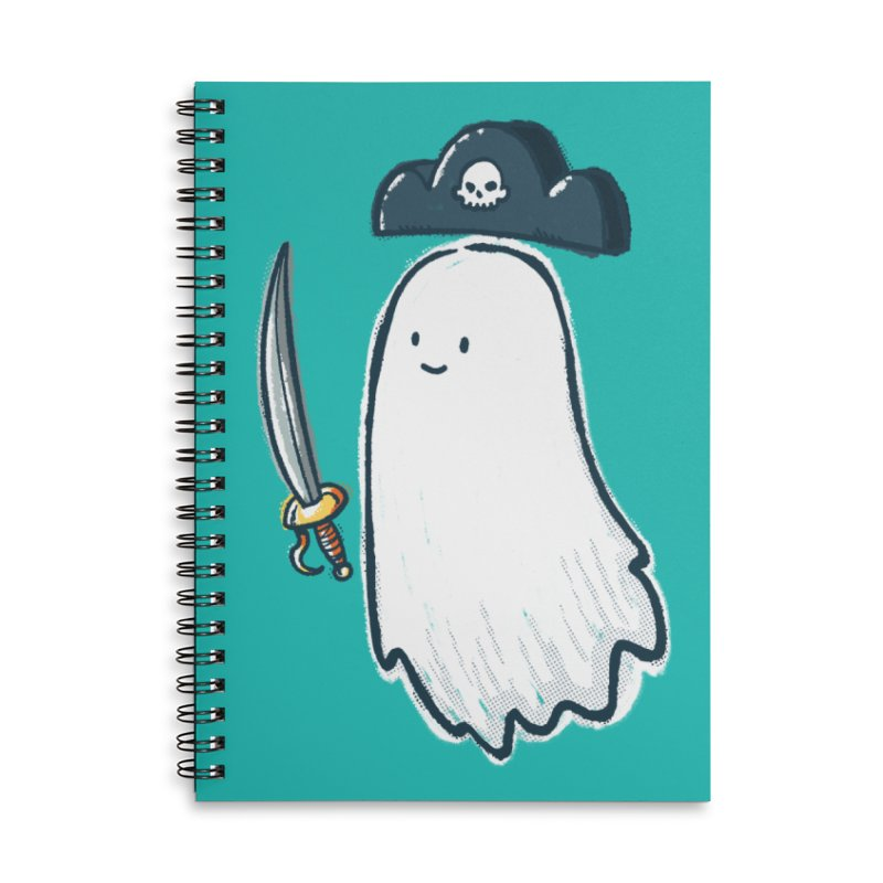 Pirate Ghost Accessories Lined Spiral Notebook by nickv47