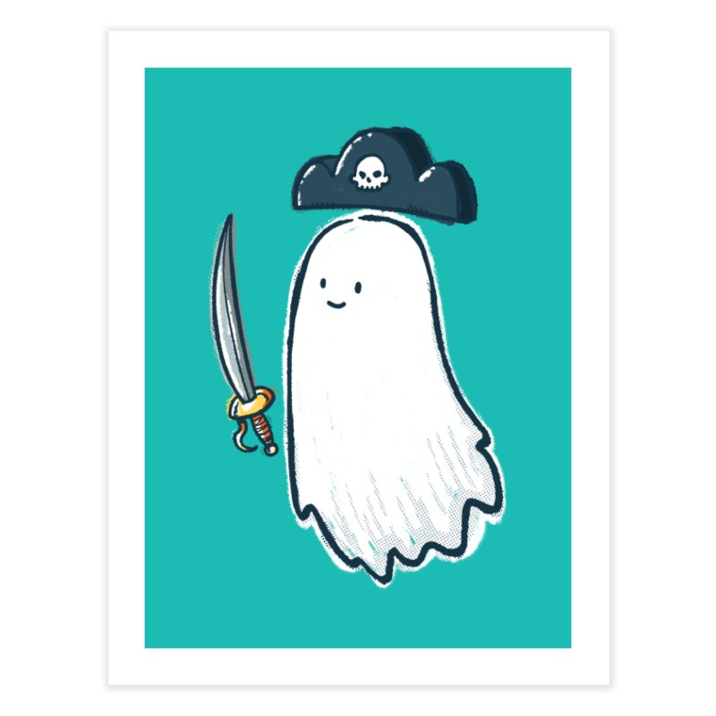 Pirate Ghost Home Fine Art Print by nickv47