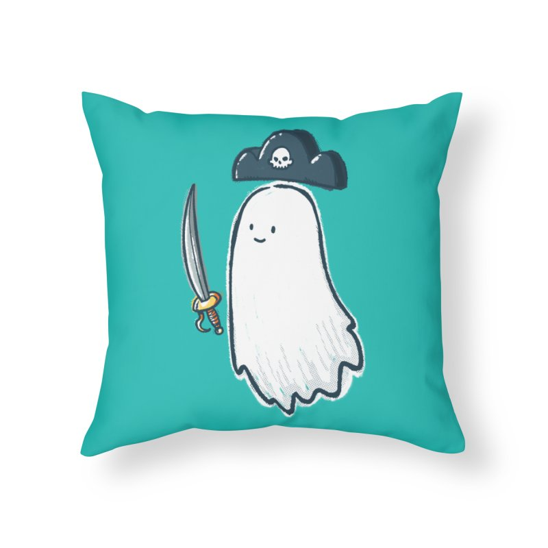 Pirate Ghost Home Throw Pillow by nickv47