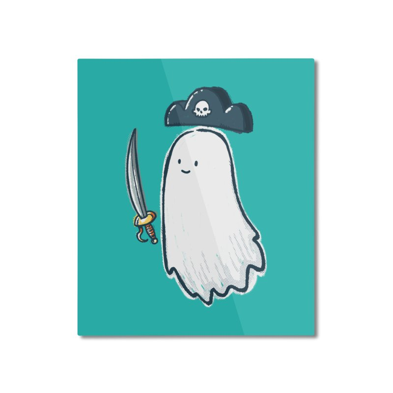 Pirate Ghost Home Mounted Aluminum Print by nickv47