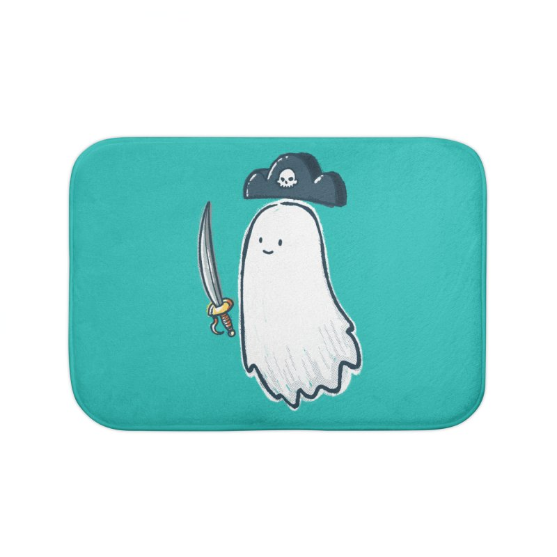 Pirate Ghost Home Bath Mat by nickv47