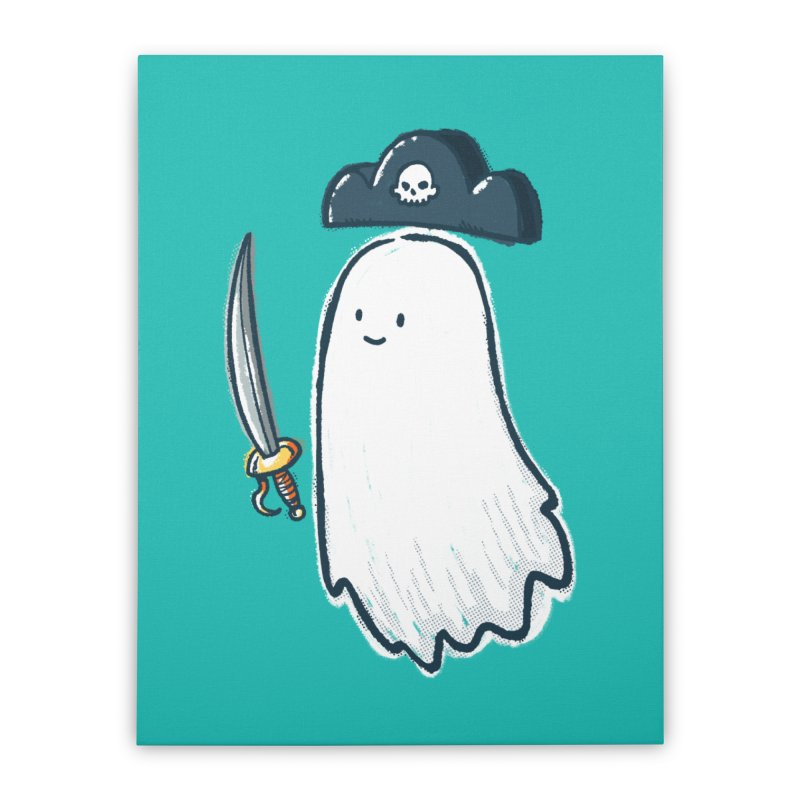 Pirate Ghost Home Stretched Canvas by nickv47