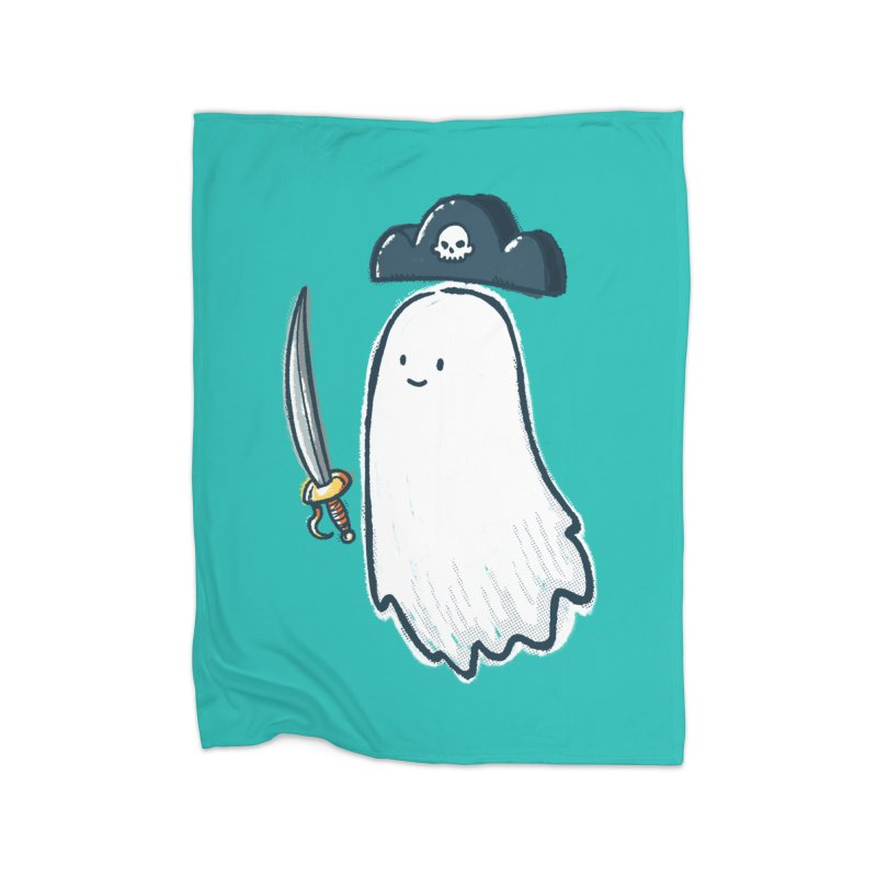 Pirate Ghost Home Fleece Blanket Blanket by nickv47