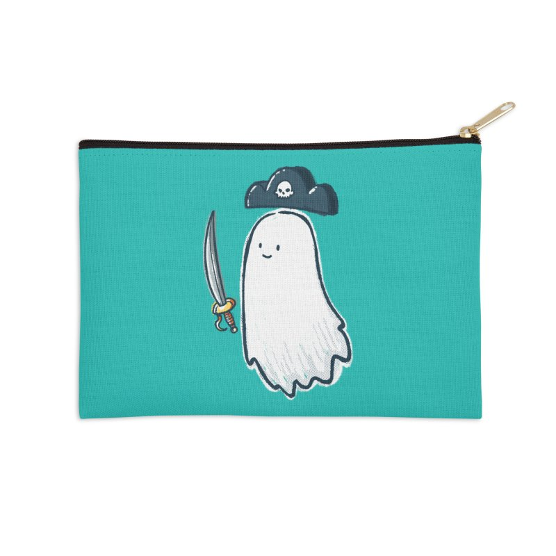 Pirate Ghost Accessories Zip Pouch by nickv47