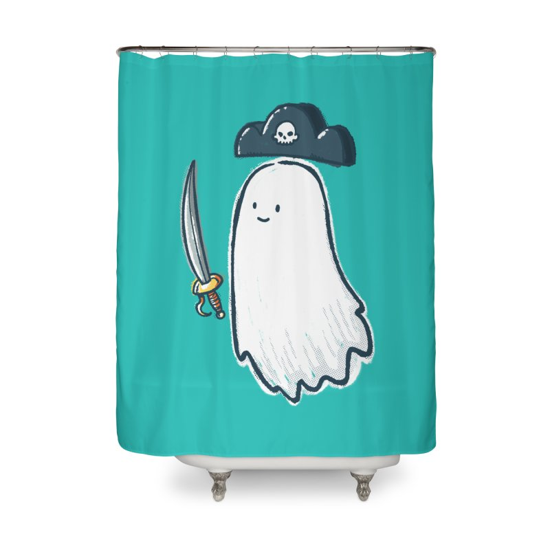 Pirate Ghost Home Shower Curtain by nickv47