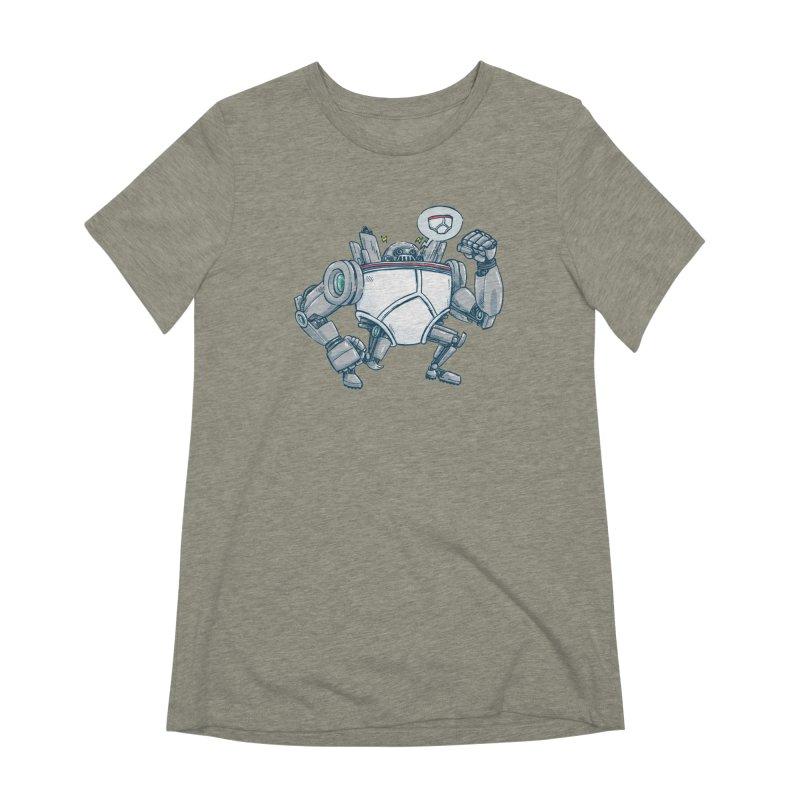 Uber UnderwearBot Women's Extra Soft T-Shirt by nickv47