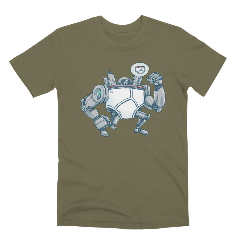 Uber UnderwearBot Men's Premium T-Shirt by nickv47