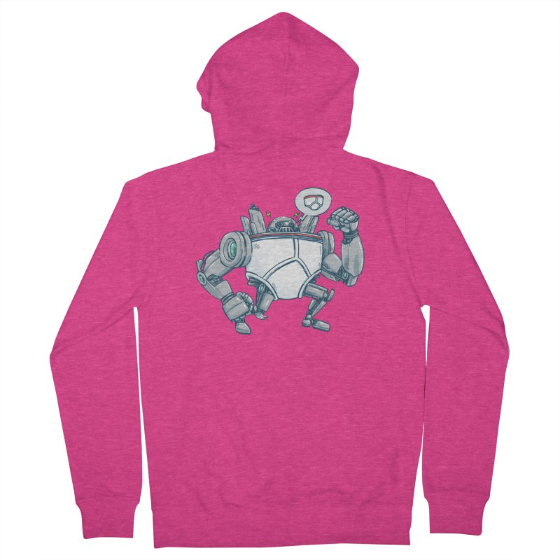 Uber UnderwearBot Women's French Terry Zip-Up Hoody by nickv47