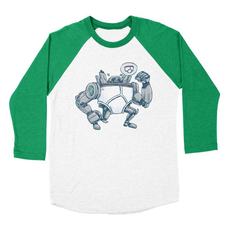Uber UnderwearBot Women's Baseball Triblend Longsleeve T-Shirt by nickv47
