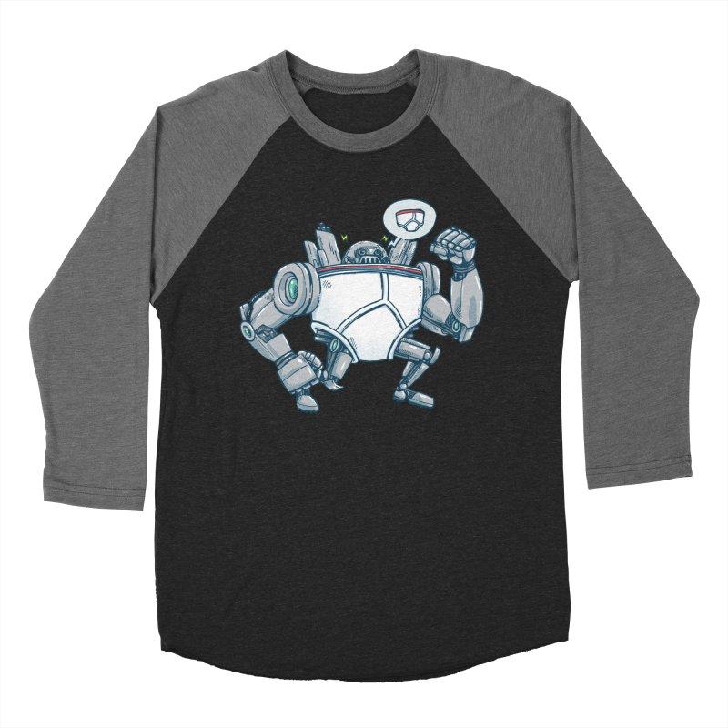 Uber UnderwearBot Men's Baseball Triblend Longsleeve T-Shirt by nickv47
