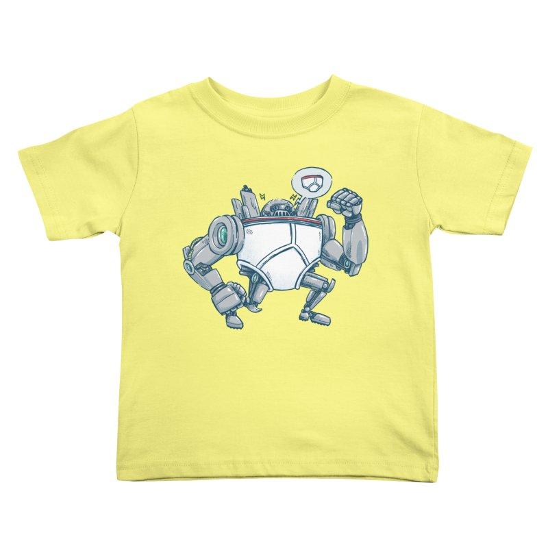 Uber UnderwearBot Kids Toddler T-Shirt by nickv47
