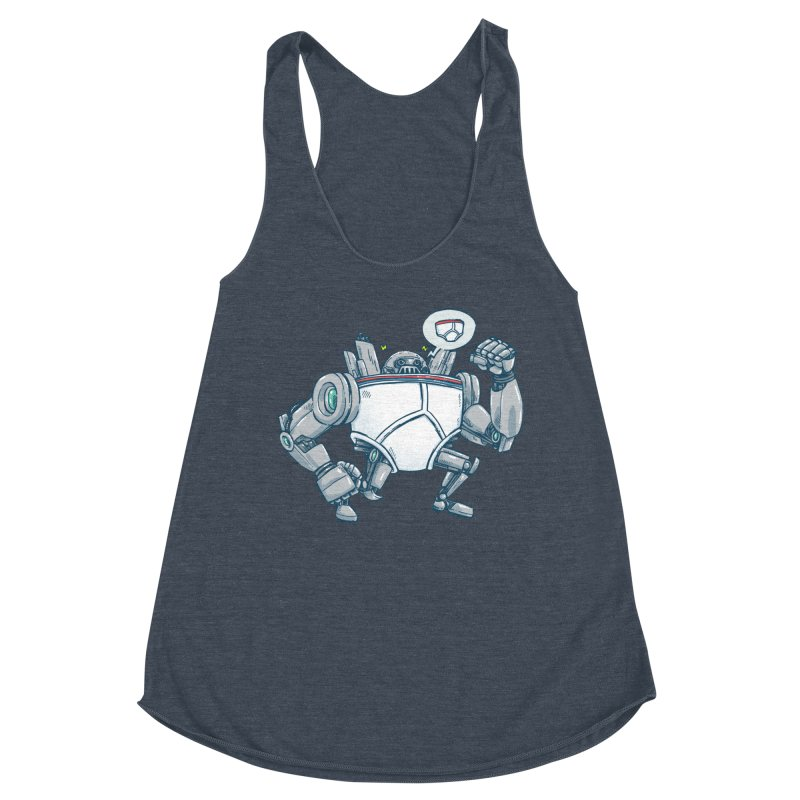 Uber UnderwearBot Women's Racerback Triblend Tank by nickv47